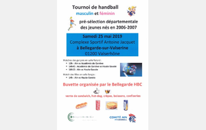 Tournoi international à Bellegarde